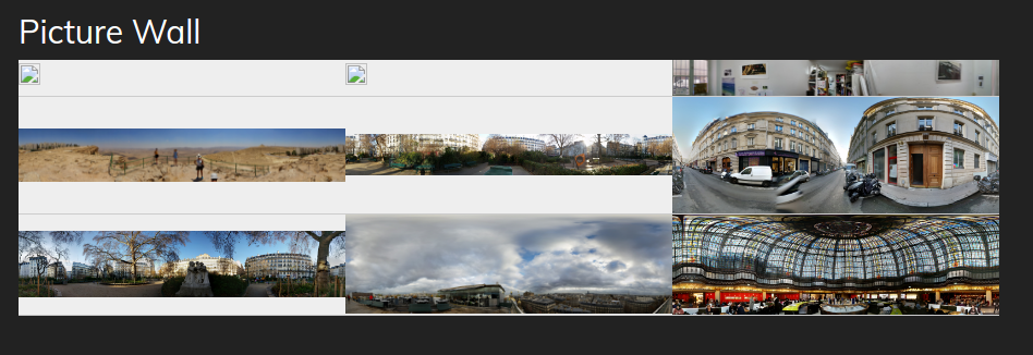 Picture wall integrating A-frame Library | Drupal Developer