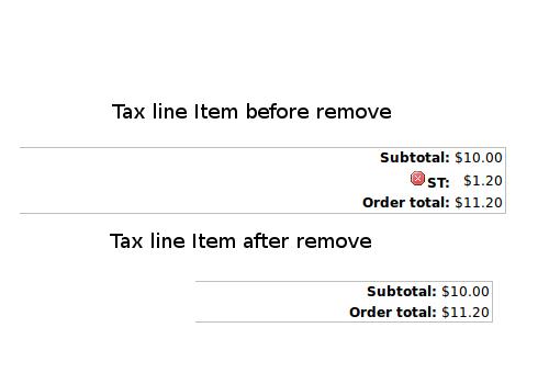 Remove tax line item