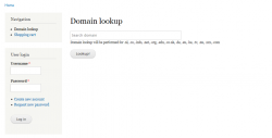Drupal commerce Domain look up search