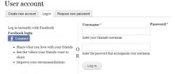 Drupal : Login / register with Facebook connect button